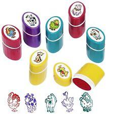 8 Stück bunte Stempel für Kinder Tiermotive neue Kinderstempel Stempelset Tiere