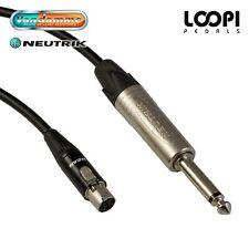 Shure PGX14UK Guitar Wireless Lead - Van Damme cable w/ Neutrik  Silver Jack ST