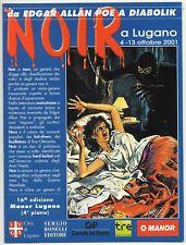 NOIR a LUGANO da Edgar Allan Poe a DIABOLIK pieghevole promozionale 2001