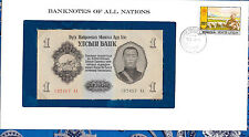 Banknotes of All Nations Mongolia 1955 1 Tugrik P28 UNC 192457 AA