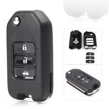 Folding Flip Remote Key Case Fob 3 Button For Honda Civic City Fit HR-V XR-V