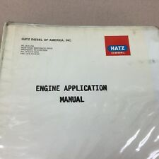 Hatz ENGINE APPLICATION MANUAL GUIDE DIESEL +SPECIFICATIONS SALES BROCHURES INFO
