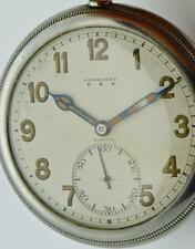 Important antique military screw back case Longines CHRONOMETER watch!