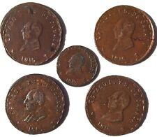 5 Mexico Oaxaca 10 & 1 Centavos 1915