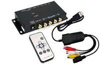 USB Quad Video Split-Screen Processor With Recording Adapter For PC Mac