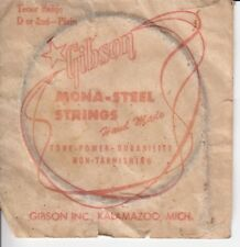 Vintage GIBSON Mona Steel BANJO STRING Tenor Banjo D or 2nd - Plain