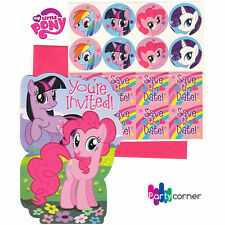 MY LITTLE PONY BIRTHDAY PARTY SUPPLIES INVITATIONS / INVITES PACK OF 8