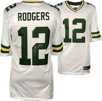 Aaron Rodgers Packers Signed Nike White Limited Jersey - Fanatics