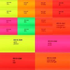 13,23€/m² Neon Plotterfolie Oracal 6510 Folie Fluorescent Autofolie Markierung