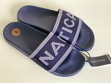 NEW! NAUTICA ABOVE VIEW NAVY BLUE SLIP-ON SLIDES FLIP-FLOPS SLIPPERS 8 38 SALE
