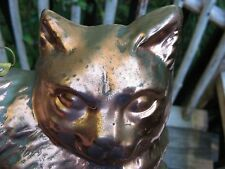Korean vintage copper KITTY kitchen mold~old surface patina! Cat lovers~shabby!