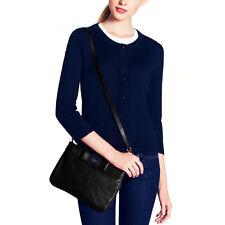 Kate Spade Black Primrose Hill Pebbled Leather Arica Crossbody Bag EUC BOW BEAU