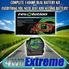 DUAL BATTERY SYSTEM KIT 140AMP HEAVY DUTY AUTOMATIC 12VOLT 4x4 CARAVAN + MORE