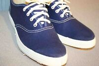 5 NOS Vtg 70s SNEAKER Shoe ROCKABILLY SKAMPS LaCrosse NAVY BLUE TENNIS GYM