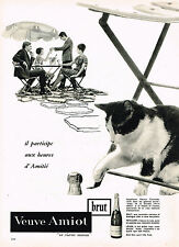 PUBLICITE ADVERTISING  1965   VEUVE  AMIOT    vin  mousseux