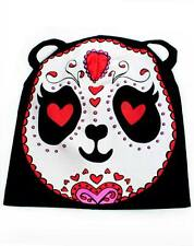 TOO FAST PANDA Slouchy Knit Beanie TATTOO ANIMAL HAT Rockabilly EMO GOTHIC GOTH