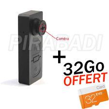 BOUTON CAMERA ESPION MAX AUDIO PHOTO VIDEO DVR GB SPY + 32Go SD OFFERT
