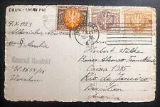 1929 Warsaw Poland Postcard Cover To Rio De Janeiro Brazil