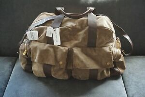 NWT Brunello Cucinelli Travel Duffle Bag Gym Holiday Brown Suede $5K