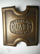 1881 Anson Mills Belt Buckle  Fort Smith. Ark Prison Guard Solid Brass w/ clip