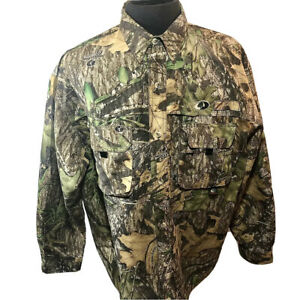 Mossy Oak Obsession Camo Treklite Vented Men's L Button Down Hunting Shirt NEW