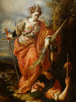 "oil painting  "" Saint Catherine of Alexandria Dominating the Emperor Maxentius"""