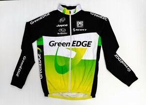 Santini Green Edge Licensed Long Sleeve Black Green & White Cycling Jersey VGC