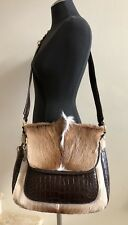 Custom Made Genuine Alligator Springbok Shoulder Bag Handbag Crossbody