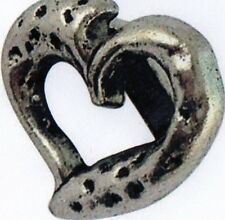 Ring Woggle (Ideal Little Gift) Tiny Silver Coloured Heart Scarf