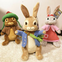 3 PCS Peter Rabbit Doll Lilly Bobtail , Benjamin Bunny 30CM Plush KIDS Toy Gift