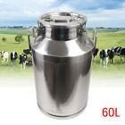Stainless Steel 60L Milk Can Barrel Drum Wine Beer Whiskey Storage Oil Rice Tank
