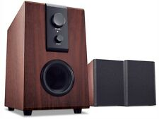 PC Speakers Audio Subwoofer Wodden 14W RMS Computer Desktop Home Stereo UK Stock