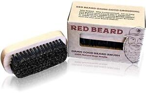 """Beard Brush for Men by """"Red Beard"""" - Made from 100% Pure Wild Boar Hair-set of 2"""