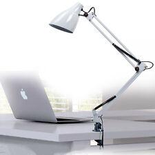 Adjustable Clip Table Lights Bedside Desk Top Table Lamp Metal White Chandelier