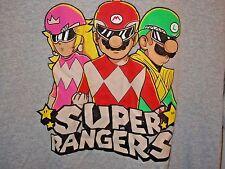 Power Rangers Mario Super Rangers Crossover Luigi Princess Peach T Shirt 1UP Box