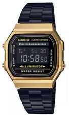 New Casio Digital black and Gold Stainless Steel 36 mm unsex Watch A168WEGB-1BDF