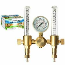 Argon Regulator Dual Co2 Flowmeter For Tig Mig Welder Gas And Backpurge 60 Sfch