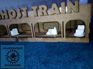 1:50 scale Showman's fairground Ghost train model starter kit + set of 5 cars