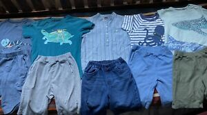 Boys Tea collection 8 T shirts and uniqlo pull on cotton shorts LOT 10 items