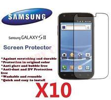 Samsung Galaxy S2 II i9200 LCD Screen Protector Crystal Ultra Clear Film X 10