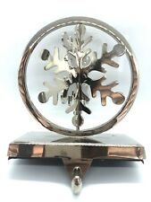 Spinning Silver Color Metal Snowflake Stocking Hanger Christmas Fireplace Decor