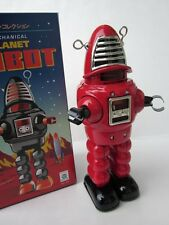 Wind Up RED ROBBY mechanical Sparking sparkling Space Forbidden planet tin ROBOT