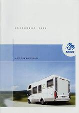 Prospekt Knaus Reisemobile 2004 Wohnmobile Motorcaravan Motorhome Traveller Sun