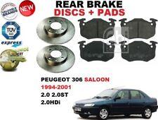für Peugeot 306 Fließheck 1993-2001 HINTERACHSE BREMSE SCHEIBEN UND BREMSBELÄGE