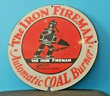 New ListingVintage Iron Fireman Gas Oil Coal Burner Porcelain Service Station Sign