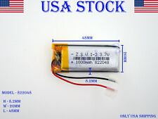3.7V 1000mAh 822048 Lithium Polymer LiPo Rechargeable Battery (USA STOCK)