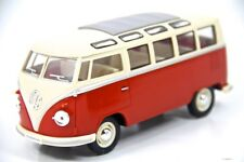 "7"" Kinsmart 1962 VW Volkswagen Bus Diecast Model Toy Car Van 1:24 Orange"