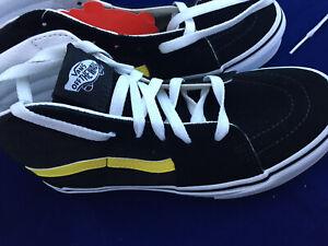 VANS Größe 35 High Sk8 Sneaker Schuhe Skater Schwarz Gelb Skateboard 🛹