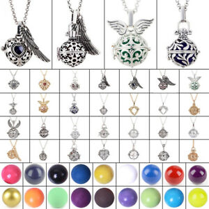 Harmony Chime Ball Musical Sound Locket Baby Angel Caller Pendant Long Necklace