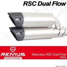 Paire de silencieux Remus RSC Dual Flow Inox sans cat Vespa GTS 300 ie Super 08+